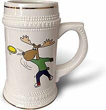 3dRose Tasse, lustig, cooler Elch,