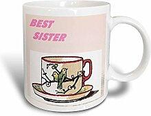 3dRose-Tasse Schwester, Rosa, verwandelt