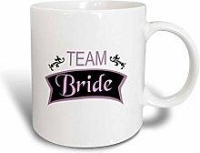 3dRose Team Bride in pink Fun pre-Wedding Girls