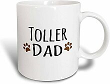 3dRose Toller Dog Dad Becher, Keramik, Ceramic, 15