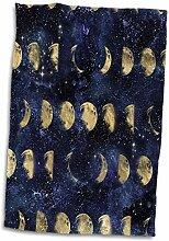 3dRose Towel Handtuch, Schickes Bild von goldenen