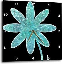 3dRose türkis Flower–Fun Blumenmuster