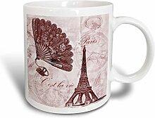 3dRose, Vintage, aus Keramik, in Rosa,