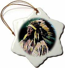 3dRose Vintage Magische Laterne, Indianer Sioux-,