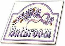 3dRose Vintage Violett Badezimmer