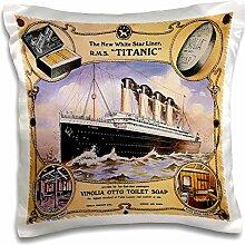 3dRose Vintage White Star Line Titanic Vinolia