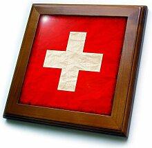 3dRose Wandfliese mit Schweizer Flagge, modernes