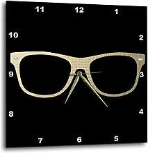 3dRose Wanduhr, Gold, 25,4x 25,4cm