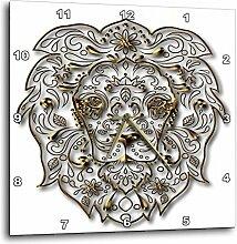 3dRose Wanduhr, Gold, 38,1x 38,1cm