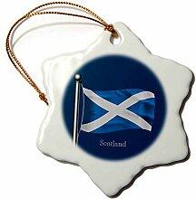 3dRose Winkende Flagge Schottlands auf einem