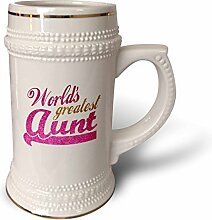 "3dRose ""Worlds Greatest Aunt – Best Auntie"