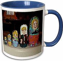 3dRosein Set von fünf Familie Russische Stapeln,