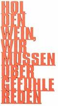 3DTYPO - made by NOGALLERY - Hole den Wein, wir