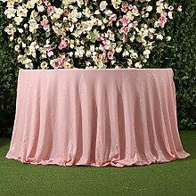 3E Home 70R Zoll Pailletten Tischdecke Runde für Geburtstagsfeier Hochzeitsbankett sparkly Dekoration-Rosa.