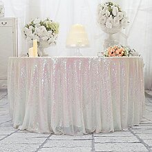 3E Home 96R Zoll Pailletten Tischdecke Runde für Geburtstagsfeier Hochzeitsbankett sparkly Dekoration-Irisieren.