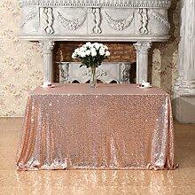 3E Home quadratische Pailletten-Tischdecke für