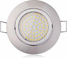 3er Flaches Design LED Einbaustrahler 230V nur