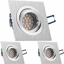 3er LED Einbaustrahler Set Bicolor
