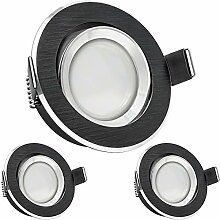 3er LED Einbaustrahler Set Bicolor (chrom /