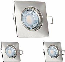 3er LED Einbaustrahler Set extra flach in