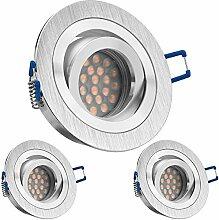 3er LED Einbaustrahler Set mit LED GU10