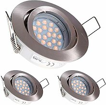 3er LED Einbaustrahler Set mit LED GU5.3 / MR16
