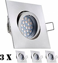3er LED Einbaustrahler Set mit LED GU5.3 / MR16