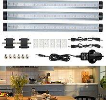 3er LED Unterbauleuchte dimmbare Lichtleiste