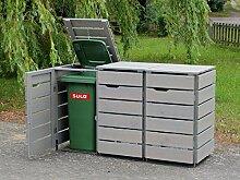 3er Mülltonnenbox / Mülltonnenverkleidung 120 L