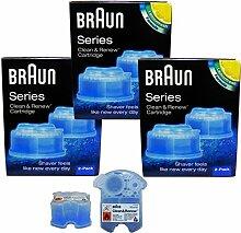 3er Pack Braun Clean & Renew CCR 2 - 2 x 170ml