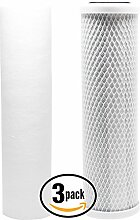 3er Pack Ersatz-Filter Kit für Crystal Quest cqe-ct-00117RO System–inkl. Carbon Block Filter & PP Sediment Filter–Denali Pure Marke