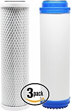 3er Pack Ersatz-Filter Kit für TOPWAY Global (TGI) tgi-315tfc RO System–inkl. Carbon Block Filter & Granulat Aktivkohle Filter–Denali Pure Marke