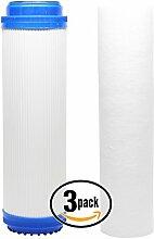 3er Pack Ersatz Filter-Set für 3M Aqua-Pure SS12epe-316l RO System–inklusive Polypropylen Sediment Filter & Granulat Aktivkohle Filter–Denali Pure Marke