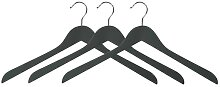 3er Pack Kleiderbügel schwarz B. 44,5cm Lotusholz natur Kesper (8,50 EUR / Stück)