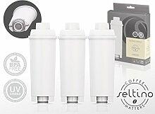 3er-Pack Seltino OVALE - ersatzfilter für DeLonghi SER3017, DLS C002. 3 stück im Packung.