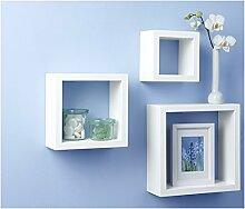 3er Regalwürfel Wandregal Hängeregal Cube Lounge
