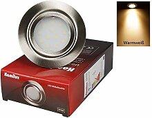3er Set 12V Power LED Einbaustrahler IP20