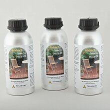 3er Set Alsanol Premium Holz-Öl (3 x 500 ml) in