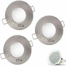 3er Set AQUA IP44 230V LED SMD 4W Warmweiß Decken