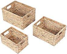 3er set Aufbewahrungsbox Regalkorb Weben Box
