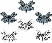 3er Set Aufkleber für Insektenschutzgitter mit Magnet als Sticker für Türen Schiebetüren Fenster Spannrahmen Netze W-G