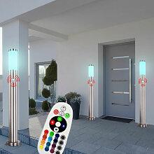 3er Set Außen Steh Lampe Bewegungsmelder Haus