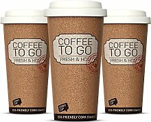 3er Set, Becher to go, Coffee to go Becher Thermo,