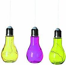 3er Set Dekoleuchte Glühbirne Lichterkette mit 10