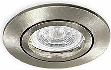 3er Set Dimmbare GU10 LED Einbaustrahler alu