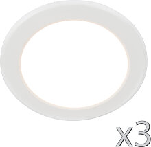 3er Set Einbaustrahler 12W weiß - Unit