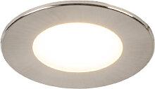 3er Set Einbaustrahler Rundstahl inkl. LED IP65 -