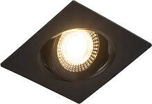 3er Set Einbaustrahler schwarz inkl. LED 3-stufig