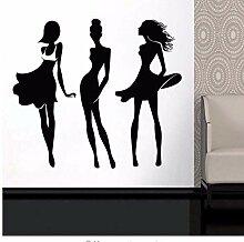 3Er Set Fashion Lady Design Vinyl Aufkleber