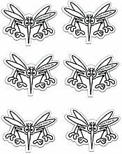 3er Set Fliegengitter Sticker Magnet als Durchlaufschutz wie Klebebilder für Insektenschutztüren Weiß - Weiß